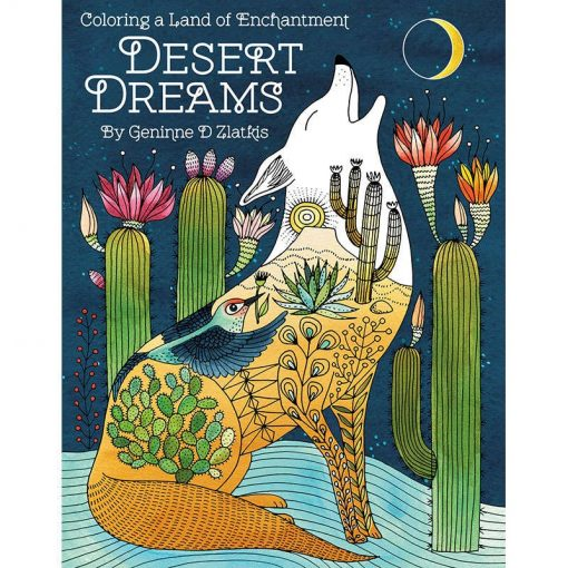 desert dreams adult coloring book