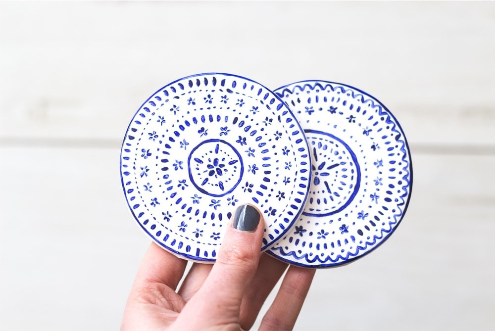 diy clay coasters by the lovely drawer blog