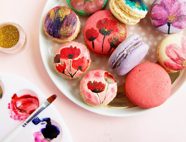 diy macaron painting craft in style subscription box