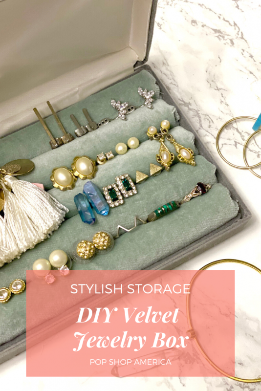 diy velvet jewelry box pop shop america