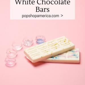 how to make edible glitter white chocolate bars pop shop america