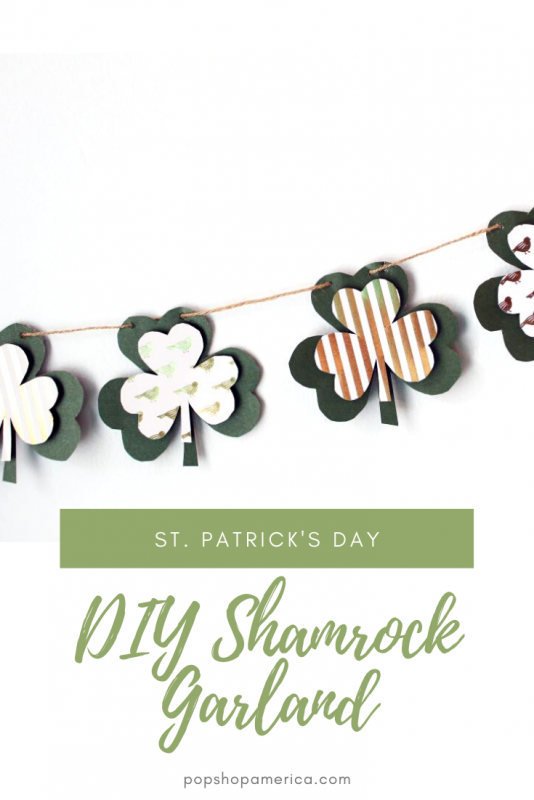 st. patrick's day diy shamrock garland