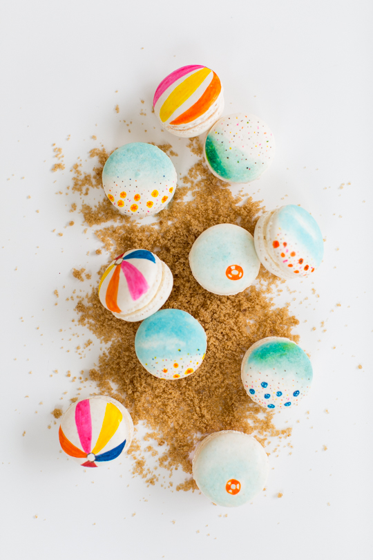 sugar and cloth diy beach macarons tutorial