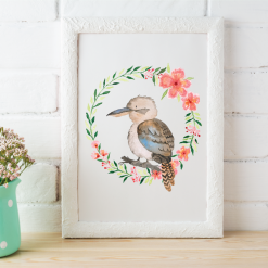 Australian-Watercolor-Animals-and-Wreaths-kookaburra_square