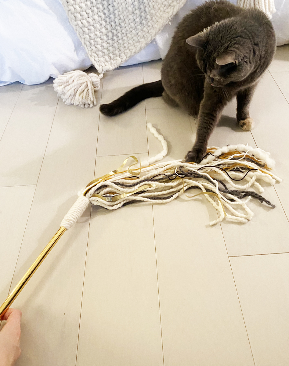 how to make a cat toy wand diy pop shop america
