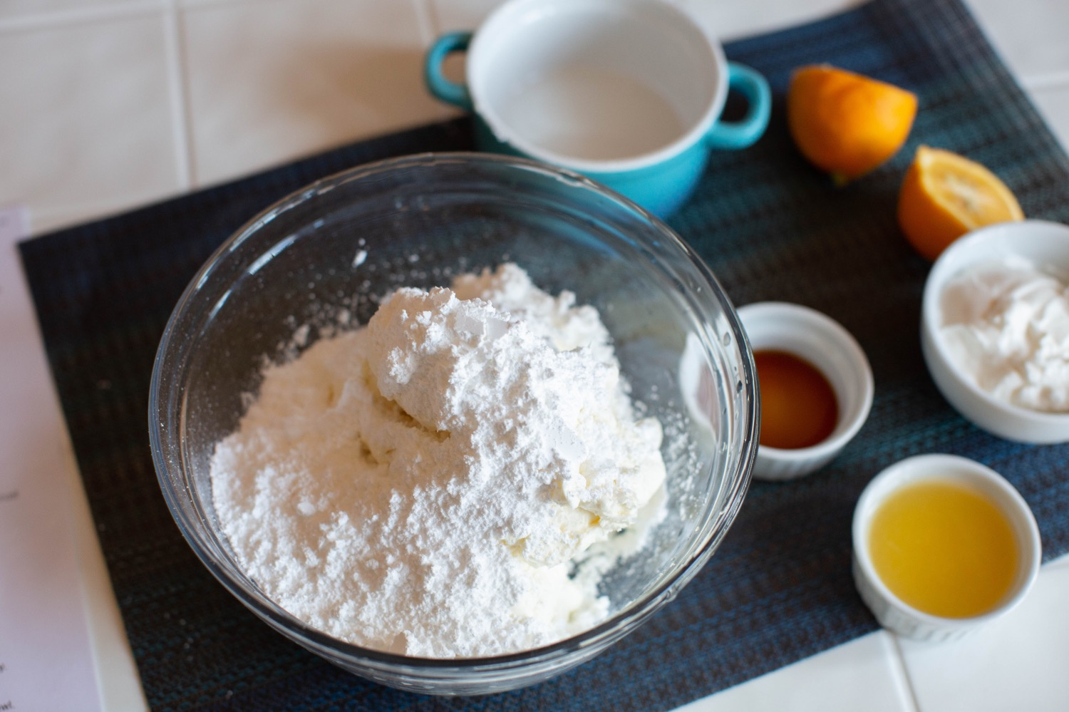 add powdered sugar to no bake cheesecake filling