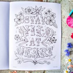 adult coloring book with aspirational quotes pop shop america