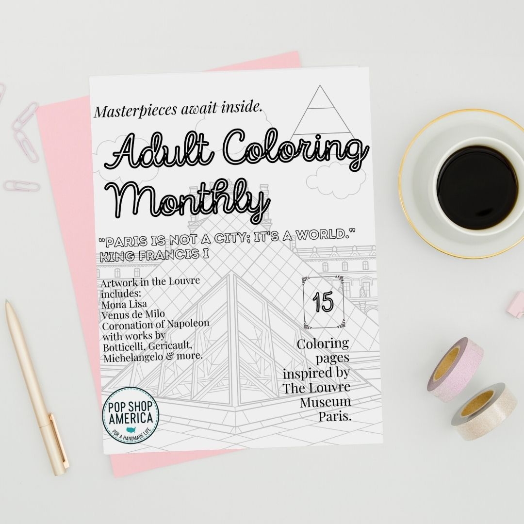 adult coloring monthly october issue pop shop america