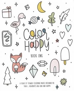 color happy book one coloring book cover