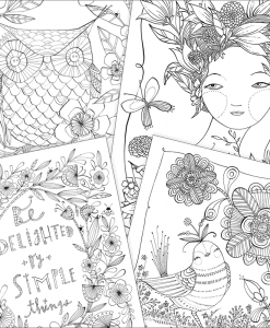 inside adult coloring book wishes wings and wondrous things