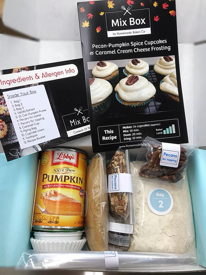 mix box by homemade bakers subscription baking box