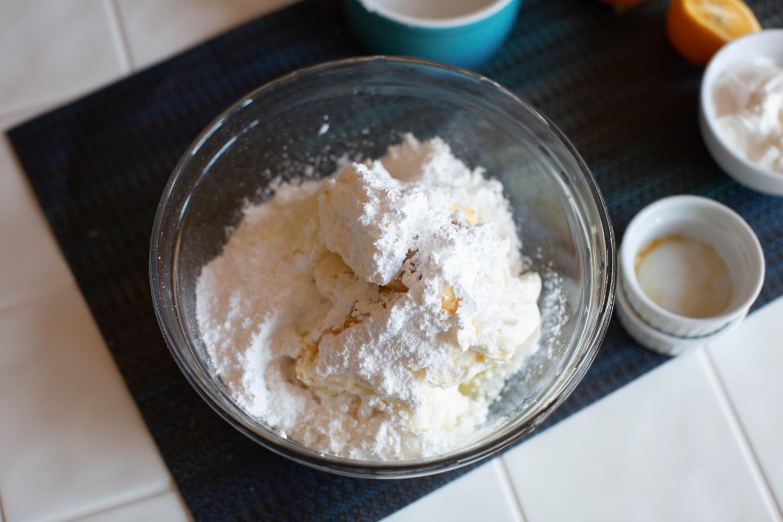 no bake cheesecake recipe adding vanilla and lemon