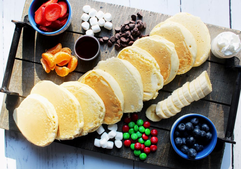 pancake board with fruit 1