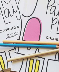 pattern play coloring book by rad and happy close up