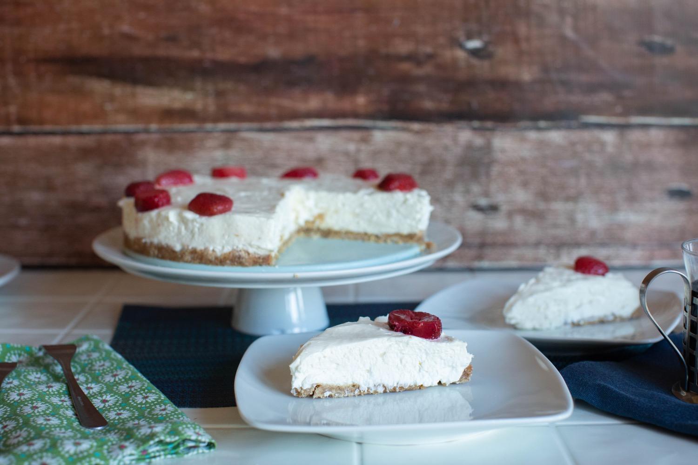 sliced strawberry no bake cheesecake pop shop america