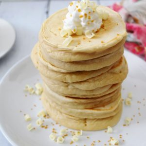 stacked pancakes from make ahead mix 1