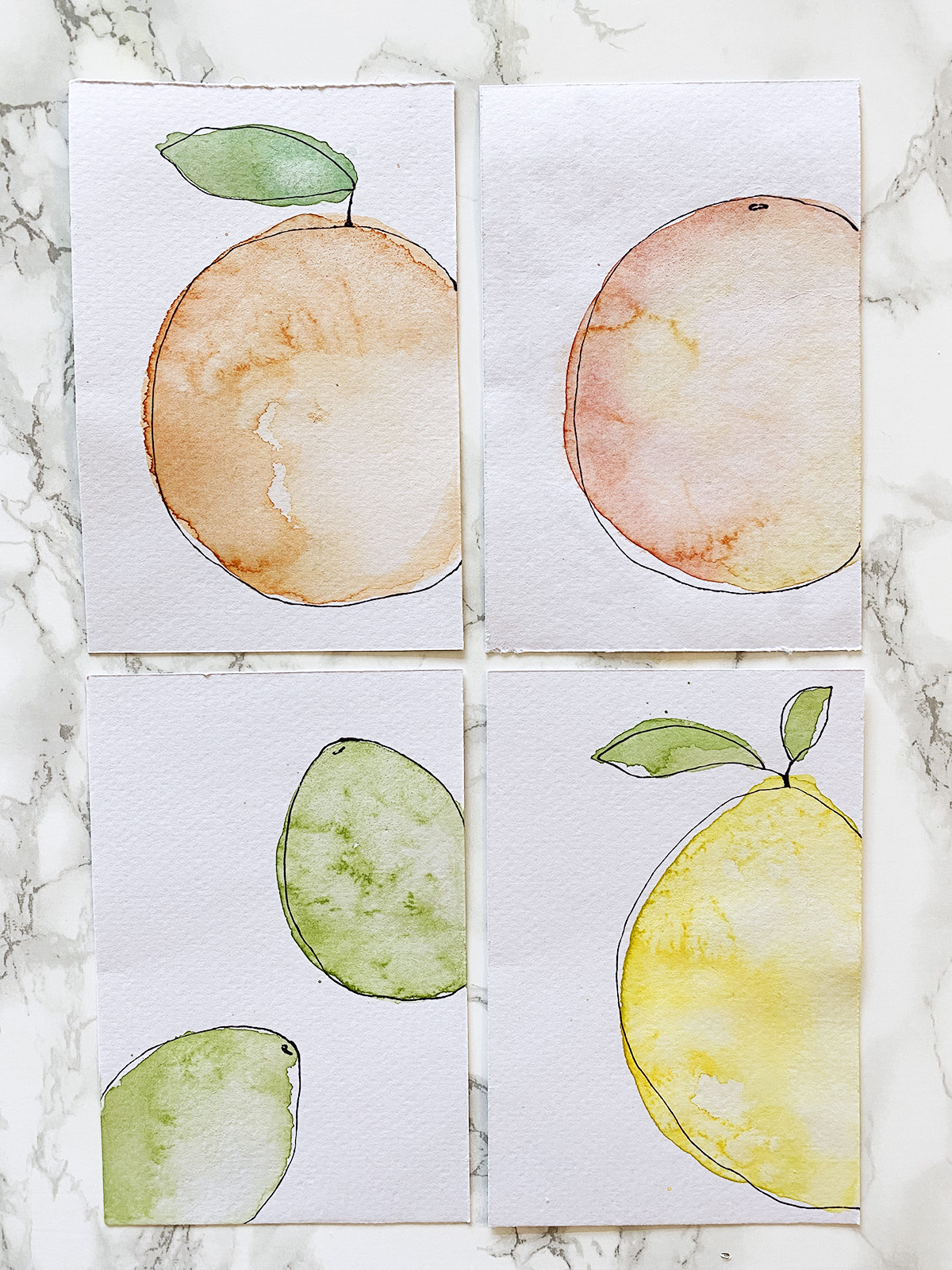 DIY Watercolour Postcards