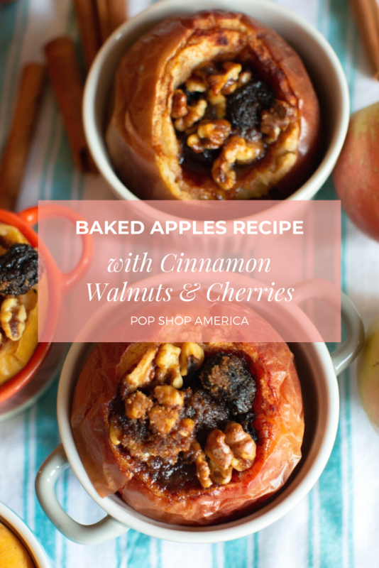 baked apples recipe with cinnamon walnuts and cherries