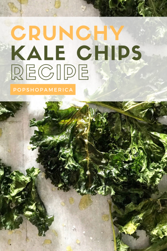 crunchy kale chips recipe pop shop america