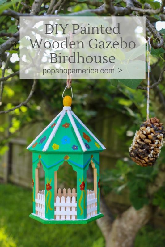 diy painted gazebo birdhouse pop shop america