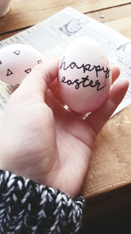 hand drawn sharpie easter eggs craft tutorial
