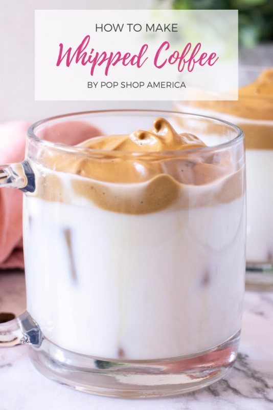 how to make whipped coffee recipe pop shop america