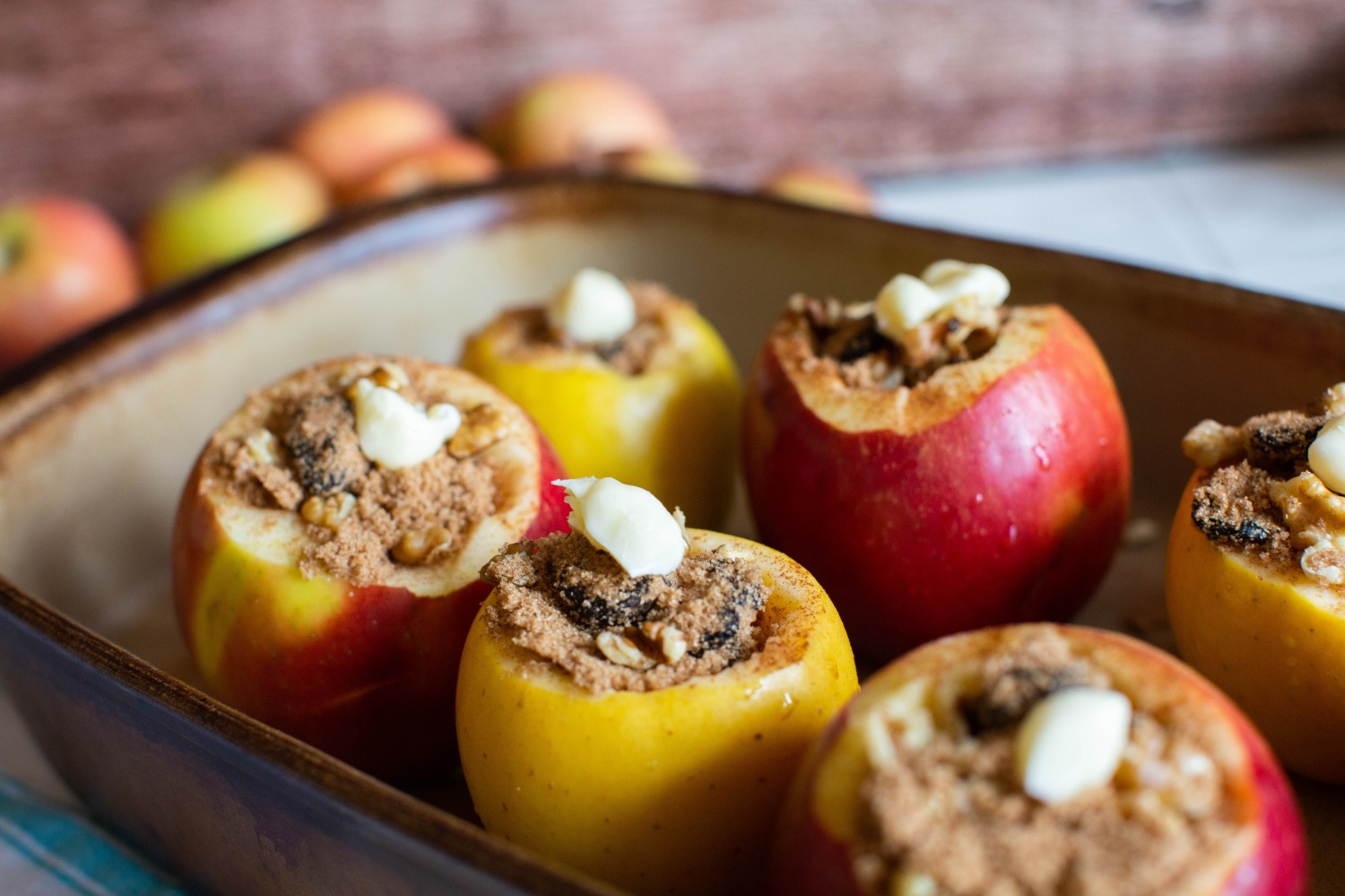 top the baked apples with butter recipe pop shop america