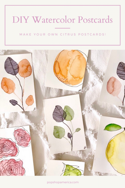 DIY Watercolor Postcards (1)