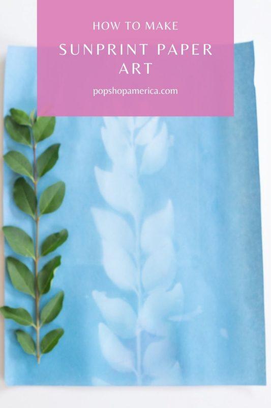 How to Make Sunprint Paper Art Tutorial Pop Shop America