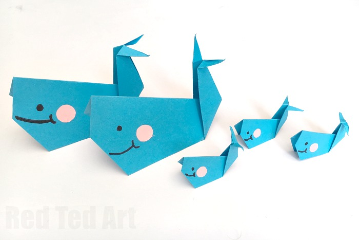 Easy-Origam-Whale-for-Kids-super-cute-fun-and-easy-whale-a-great-paper-craft-for-beginner-origami-kids.-How-to-make-an-origami-whale