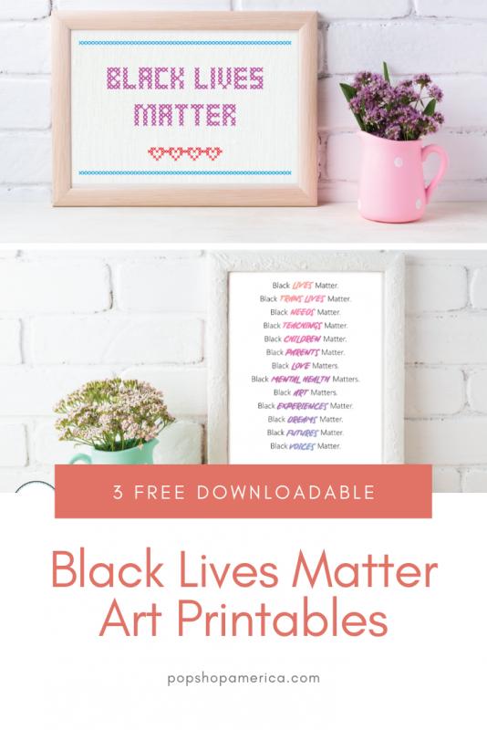 black lives matter free art printables