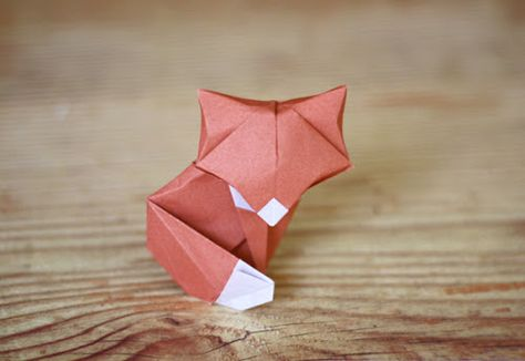 diy origami fox paper folding tutorial