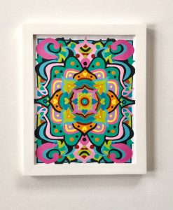 example of finished mandala paint by numbers kit
