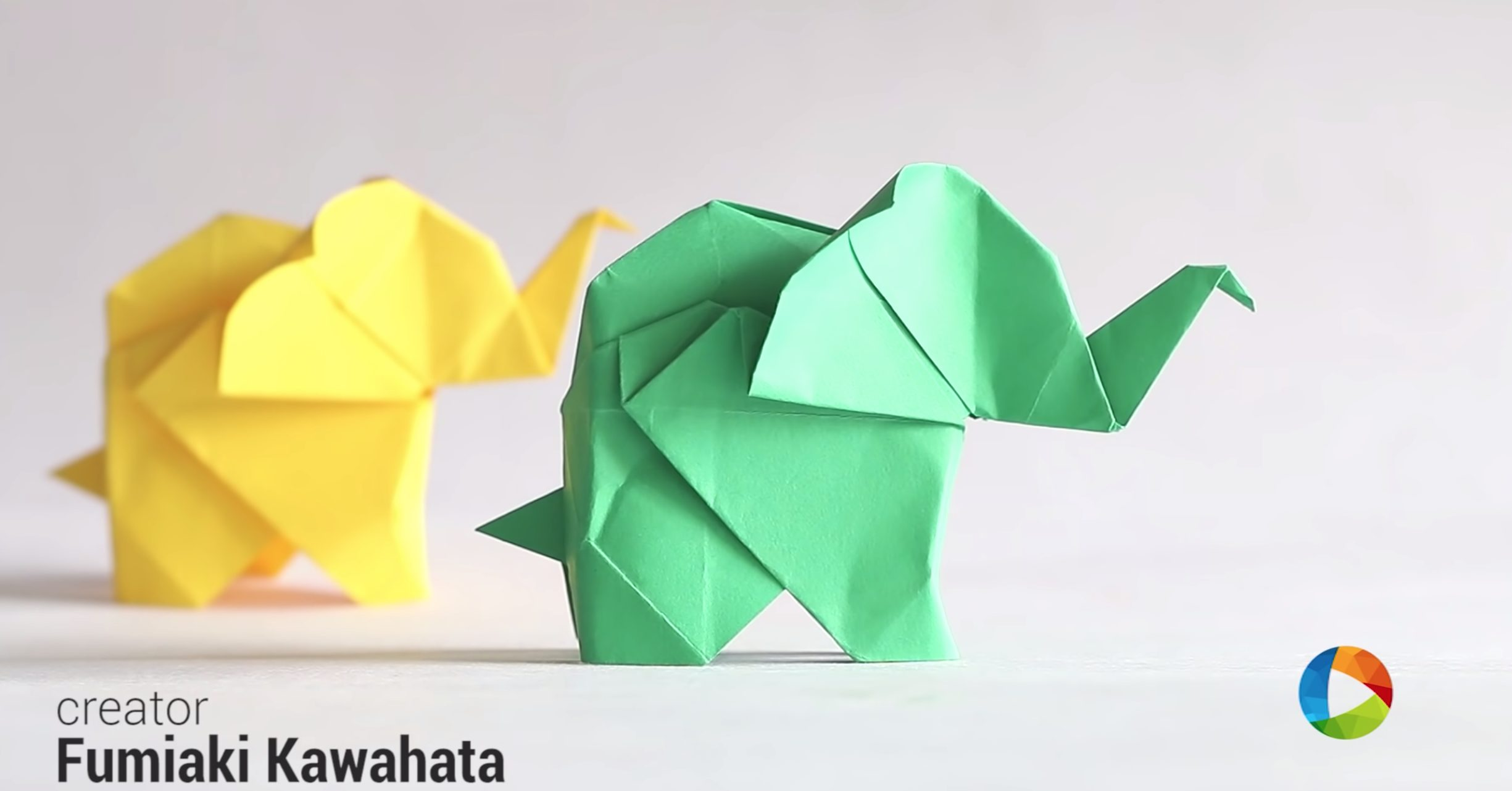 how to make an origami elephant tutorial