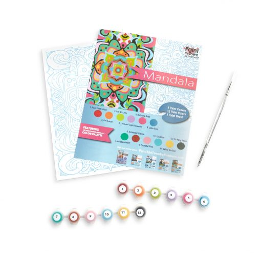 mandala paint by numbers art supply kit