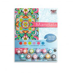 mandala paint by numbers kit adult painting supplies