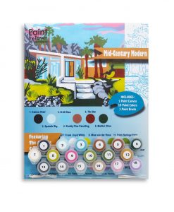 mid century modern home paint by numbers kit