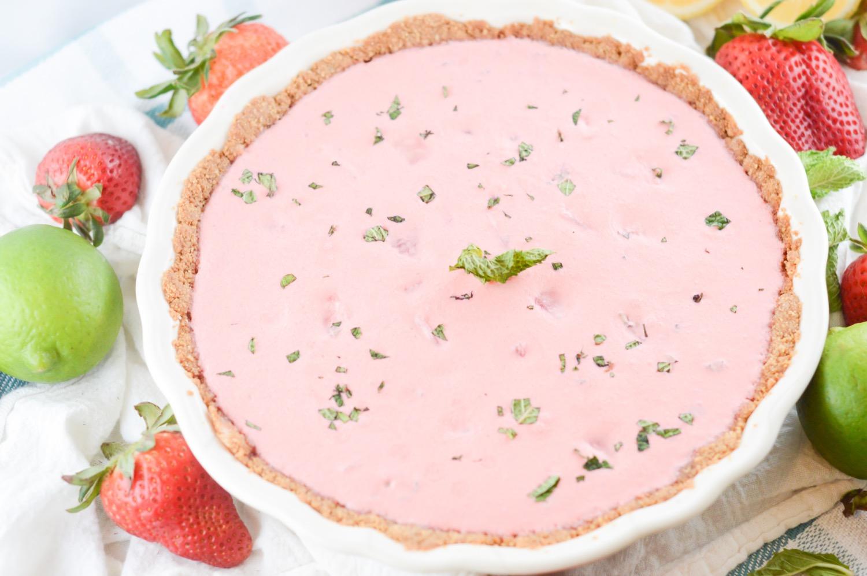 mojito strawberry cream pie dessert recipe