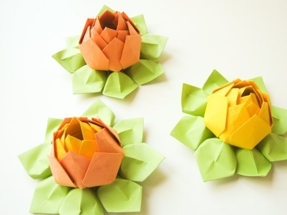 origami lotus craft tutorial pop shop america