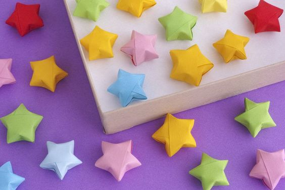 origami lucky stars by the spruce