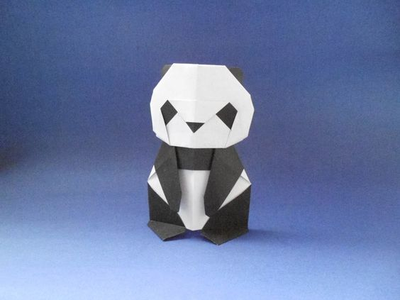 origami panda bear craft tutorial
