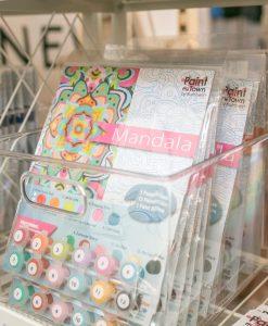 packaged mandala paint by numbers kit pop shop america