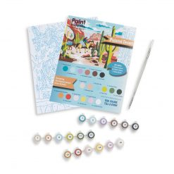 painted desert paint by numbers art supply kit