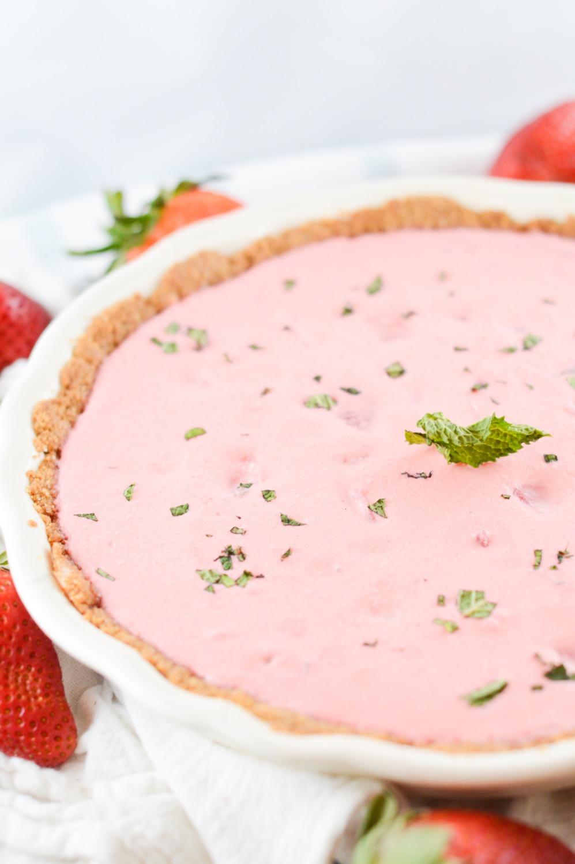 strawberry cream pie mojito dessert recipe