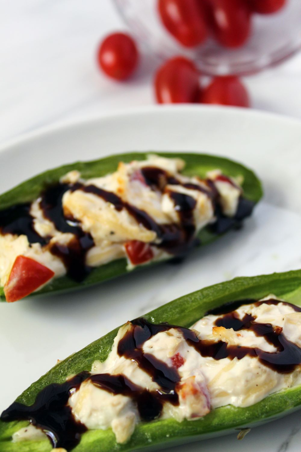 two air fryer stuffed jalapeno peppers and tomatoes 1