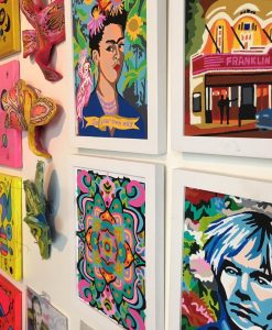 wall of paint by numbers pop shop america