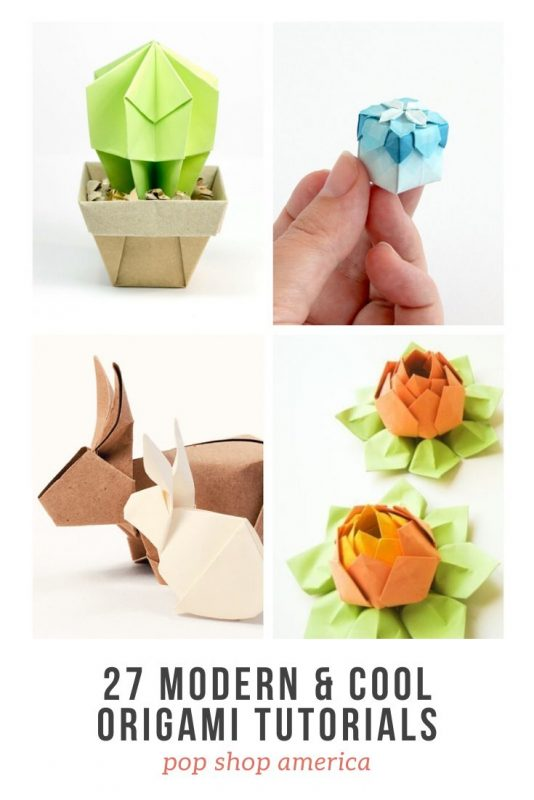 27 modern and cool origami tutorials pop shop america