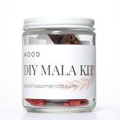 Dark Wood Mala Necklace Kit
