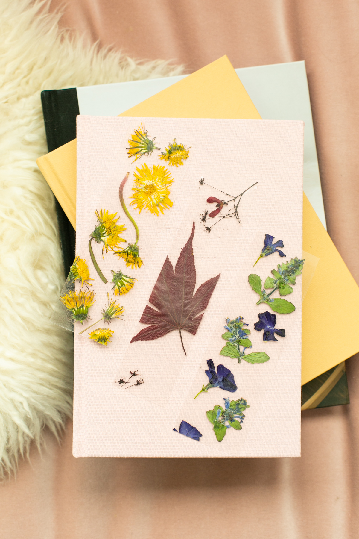 lovely indeed diy pressed flower bookmarks