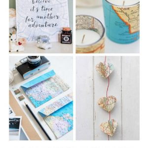11 gorgeous map paper craft ideas pop shop america